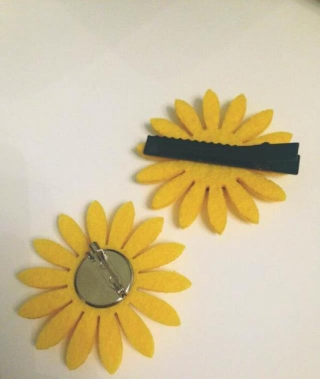 软妹向日葵小清新花朵发饰