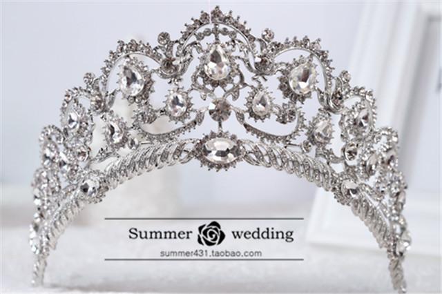 新娘皇冠头饰奢华欧式宫廷公主王冠结婚头饰礼品影楼配饰盘发头饰