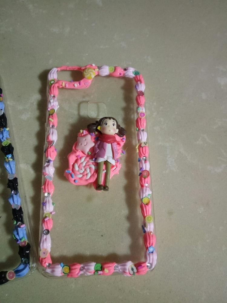 【diy奶油手机壳少女边框双色系奶油胶】-无类目-3c