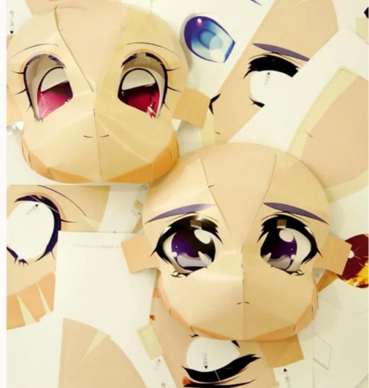 【二次元少女面具 拍照神器!】-无类目-配饰