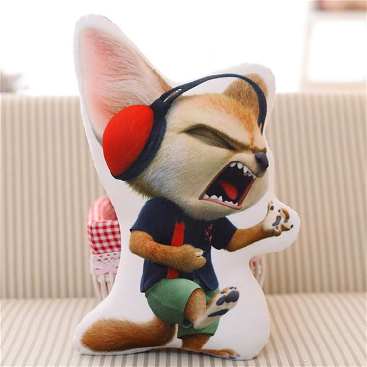 疯狂动物城电影同款尼克狐狸朱迪兔子3d抱枕