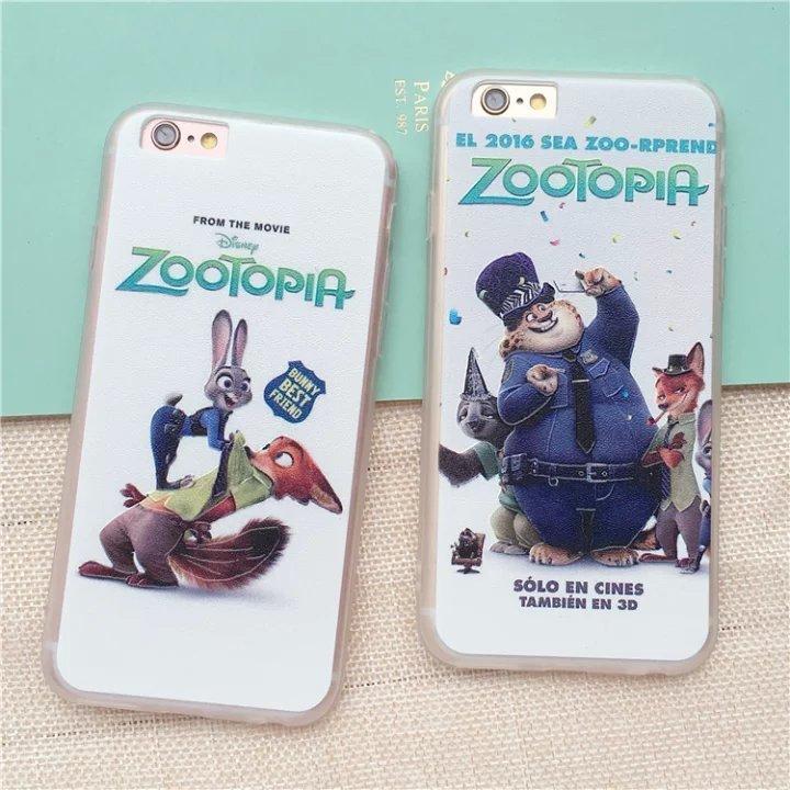 【疯狂动物城苹果iphone6s/6plus浮雕兔子狐狸树懒壳