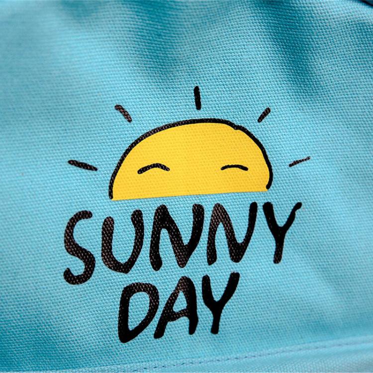 日系可爱小太阳印花双肩包