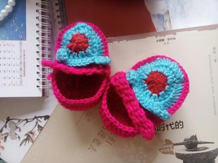 婴儿男女宝宝手工针织鞋