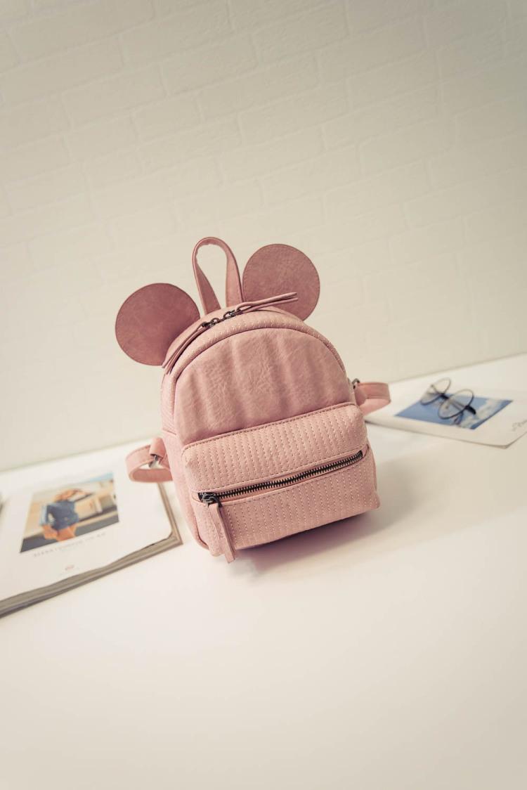 韩国迪士尼可爱米奇绣线迷你双肩包