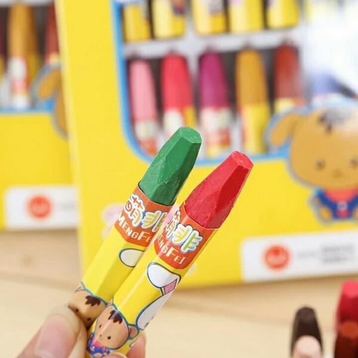 包邮24色丝滑炫彩棒儿童彩色水溶性油画棒涂鸦美术蜡笔画笔不脏