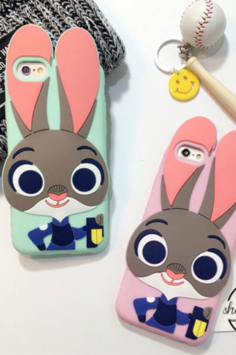 iphone5s/6s/6p 疯狂动物城朱迪硅胶手机壳