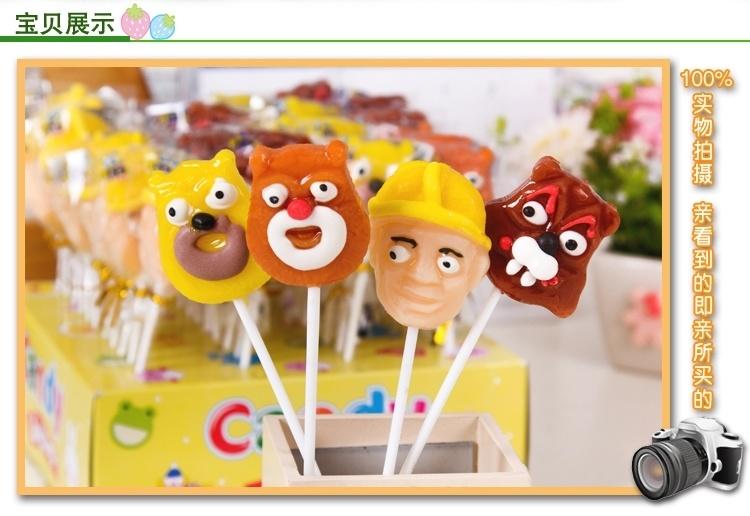 20克点花光头强熊熊大棒棒糖可爱卡通糖果送儿童礼物零食批发