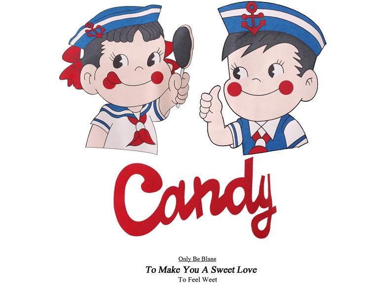 【纯棉】韩版新品可爱卡通棒棒糖不二家情侣睡衣套装