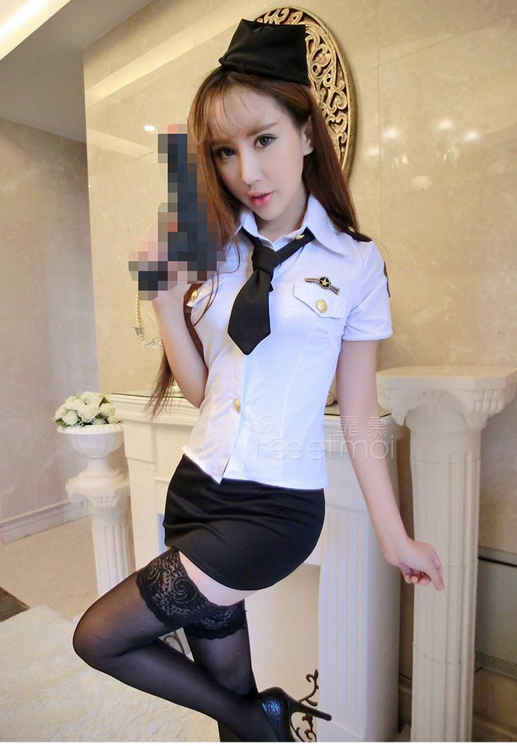 送丝袜【色诱】霏慕性感帅气女警制服套装角色扮演情趣内衣诱惑