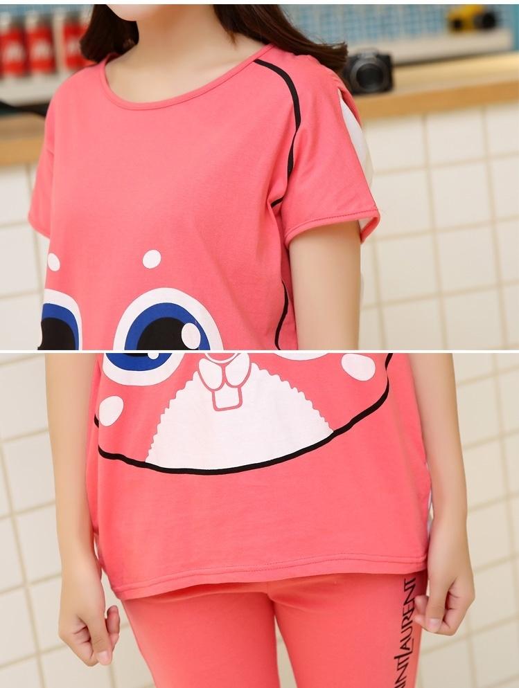 新款韩版时尚休闲可爱小兔子孕妇套装