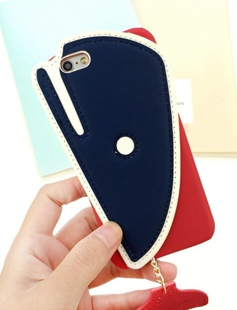 【小鲸鱼iphone6s手机壳苹果6创意卡通可爱小尾巴