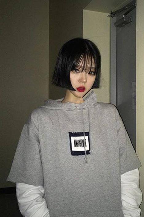 【ulzzang定制韩国假两件ins同款连帽情侣t恤】-衣服