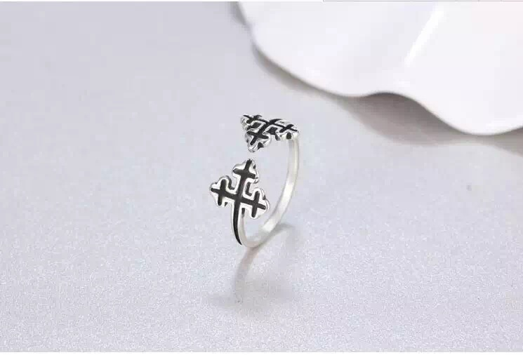 【复古十字架戒指】-配饰-配饰