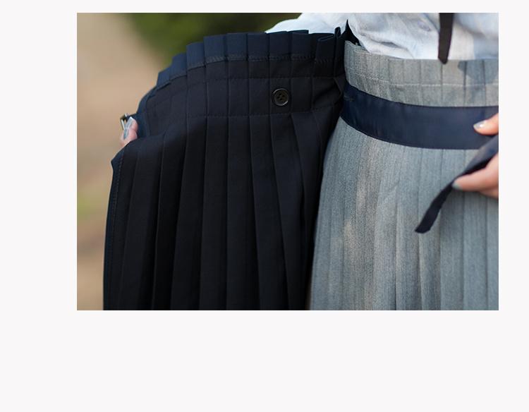 【aman 一片式百褶内扣半身裙】-衣服-半身裙_裙子_鞋