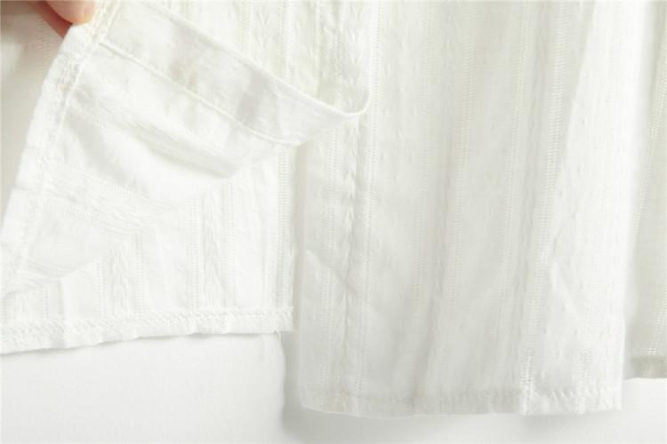 【韩版花边领打底白衬衫】-无类目-服饰鞋包