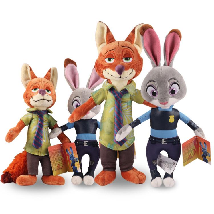 正版迪士尼疯狂动物城兔子狐狸