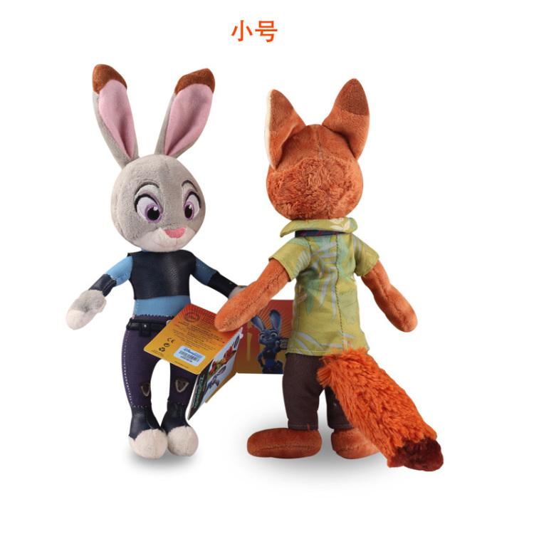 【正版迪士尼疯狂动物城公仔兔子朱迪狐尼克毛绒玩具