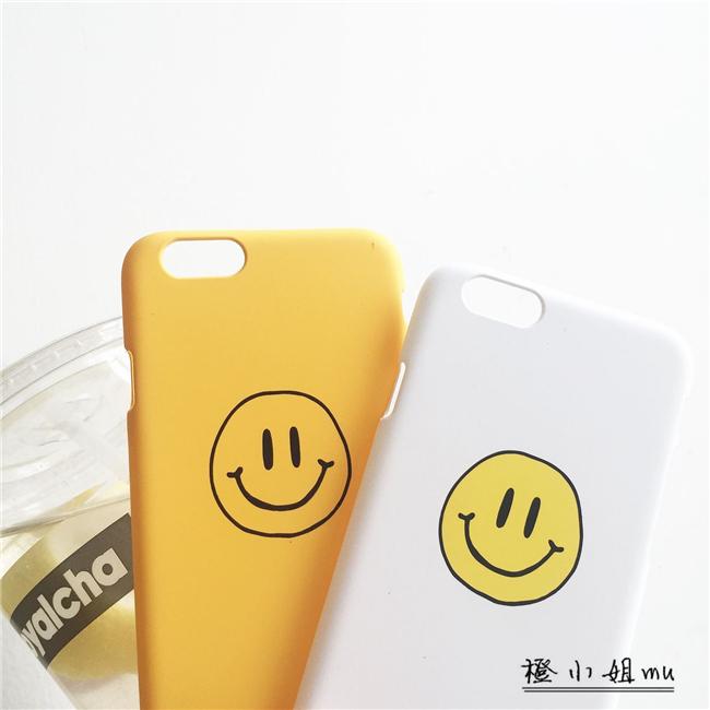 【可爱黄白笑脸苹果6s
