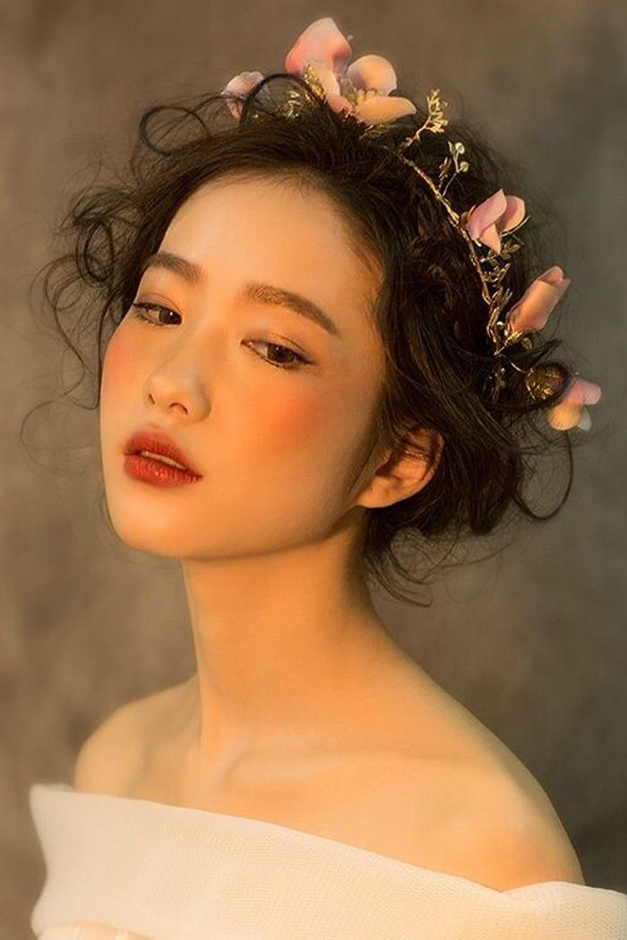 韩式高档手工森系女神串珠花朵头饰