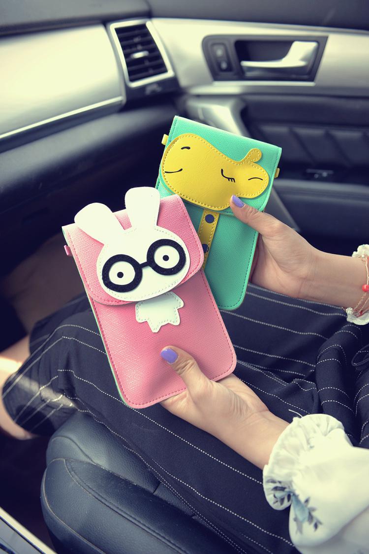 韩版卡通触屏手机包可爱迷你斜跨女生小包包