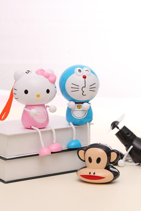 创意卡通kt猫usb风扇小风扇迷你风扇小电扇usb充电电风扇