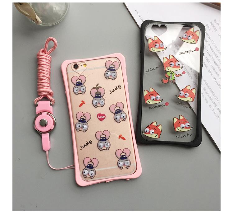 【疯狂动物城 苹果6 plus卡通手机壳保护套【徕高风