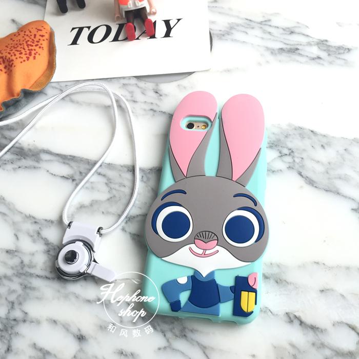【疯狂动物城朱迪兔子硅胶套】-配饰-3c数码配件