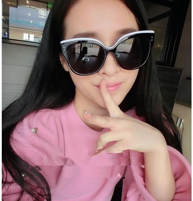 杨颖明星同款时尚太阳镜男墨镜女潮复古潮流装饰眼镜