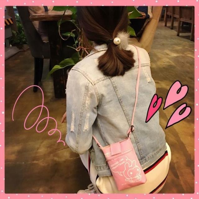 【米小仙女同款软妹超萌可爱卡通粉色小兔子迷你手机