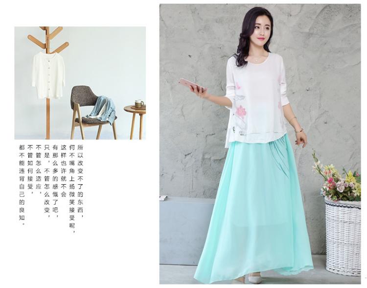 【文艺复古风棉麻半身裙两件套】-衣服-服饰鞋包