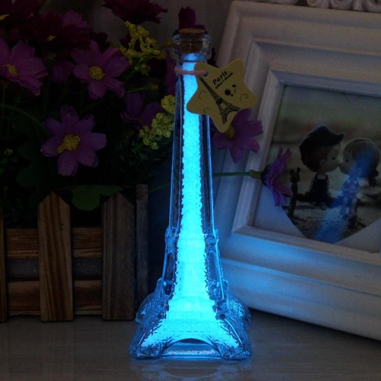 【巴黎埃菲尔铁塔玻璃瓶透明包邮彩虹许愿瓶木塞生日