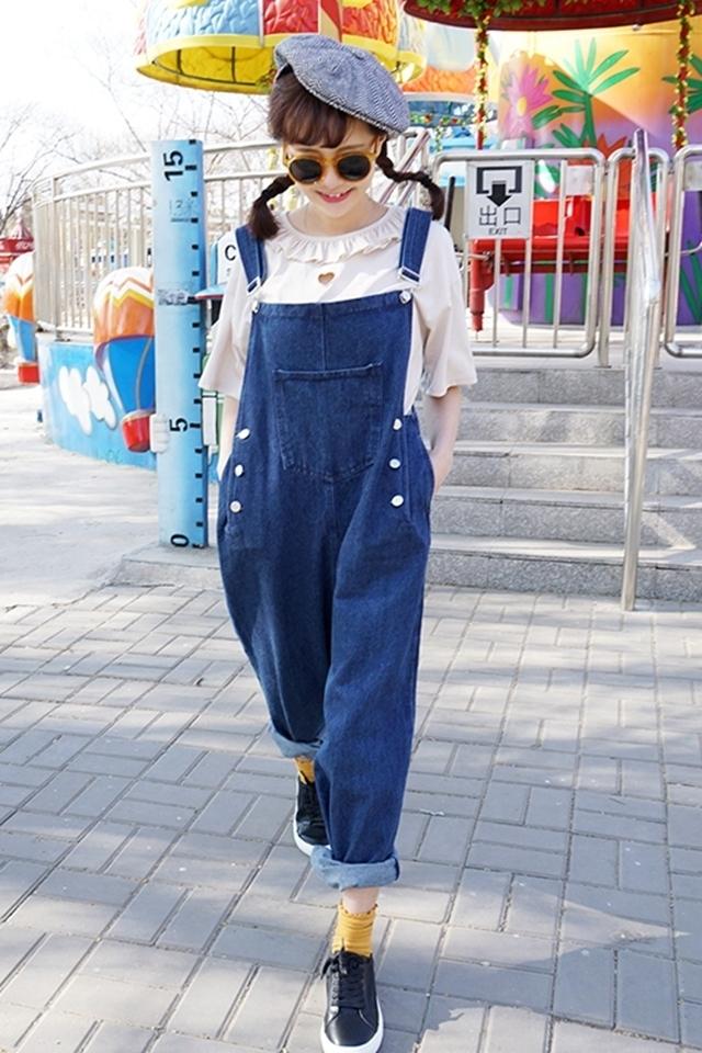 【原宿风花边心形镂空短袖t恤】-衣服-服饰鞋包