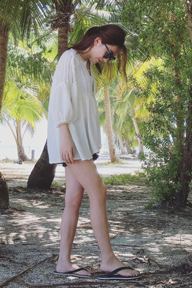 【y民族风花边雪纺衫】-衣服-雪纺衫/蕾丝衫