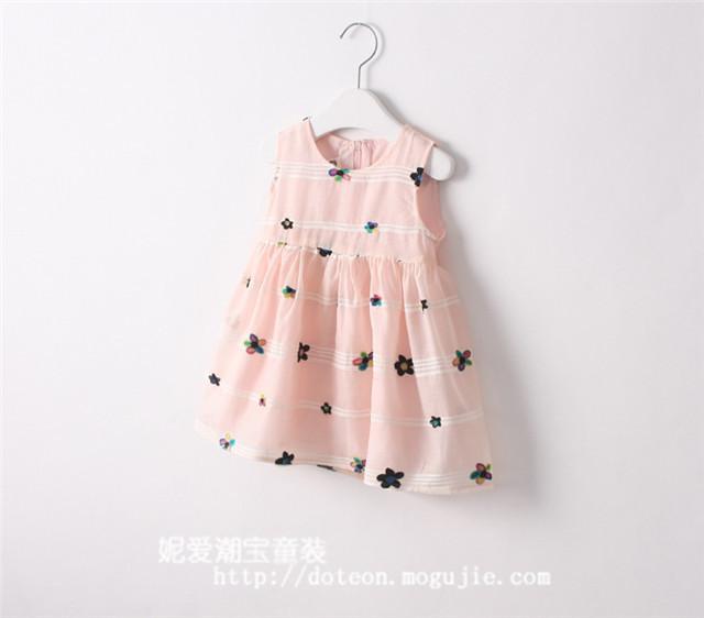 花朵背心裙连衣裙