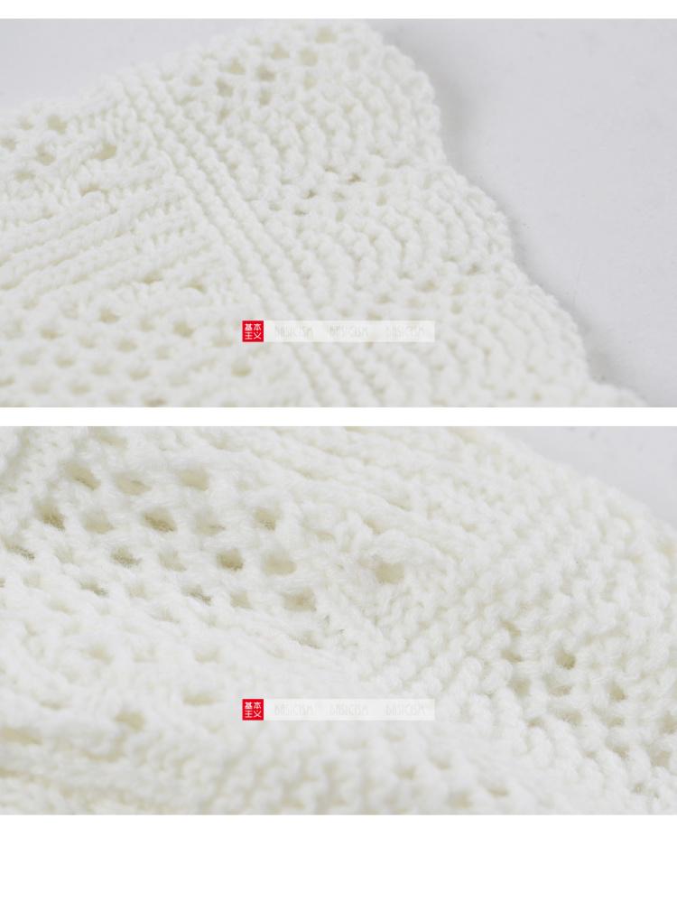 白色镂空花边套头毛衣】-衣服-服饰鞋包
