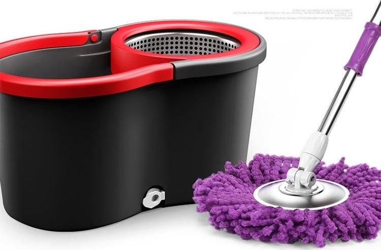 【旋转拖把桶不锈钢拖布墩布自动双驱动脱水甩干清洗