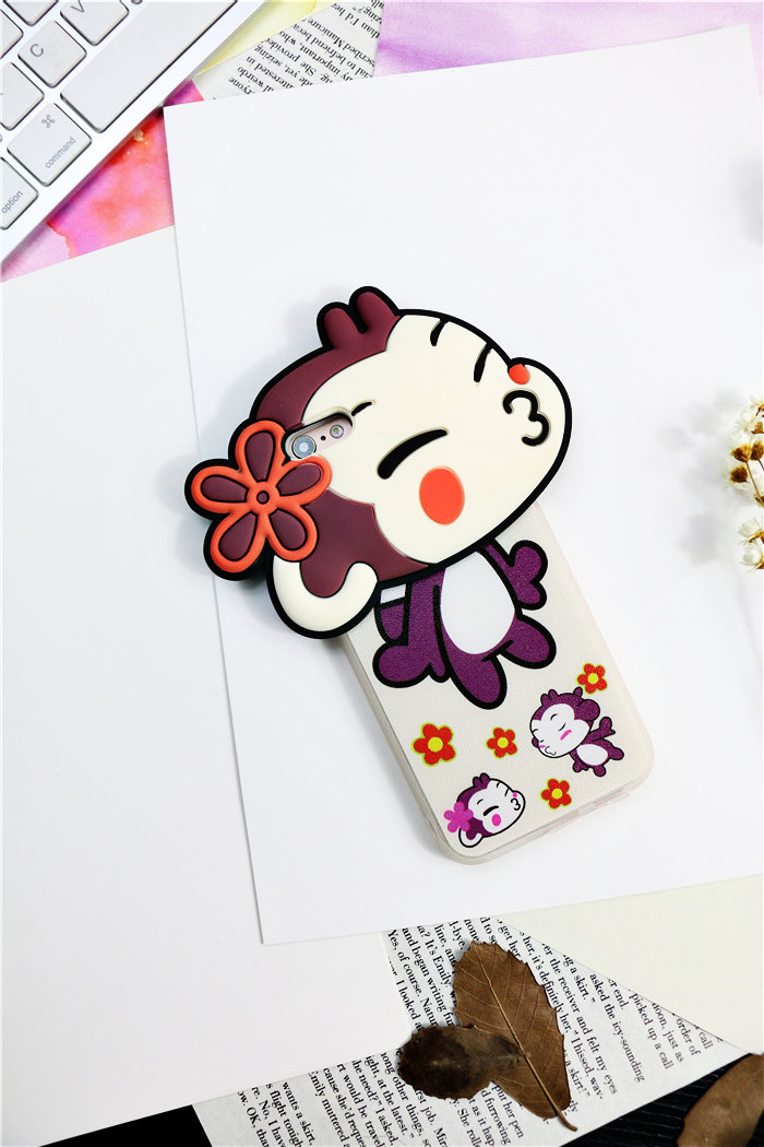 亲亲猴子情侣iphone6s苹果6plus磨砂保护套手机壳