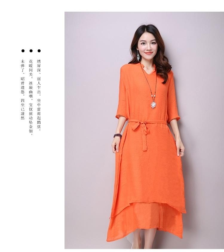 【中国风古典红色优雅复古连衣裙】-衣服-裙子_连衣裙