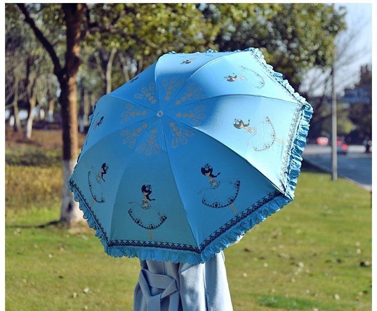 卡通女孩雨伞