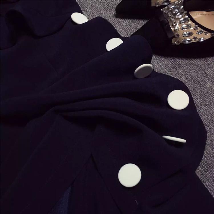 【露肩荷叶边连衣裙】-衣服-裙子