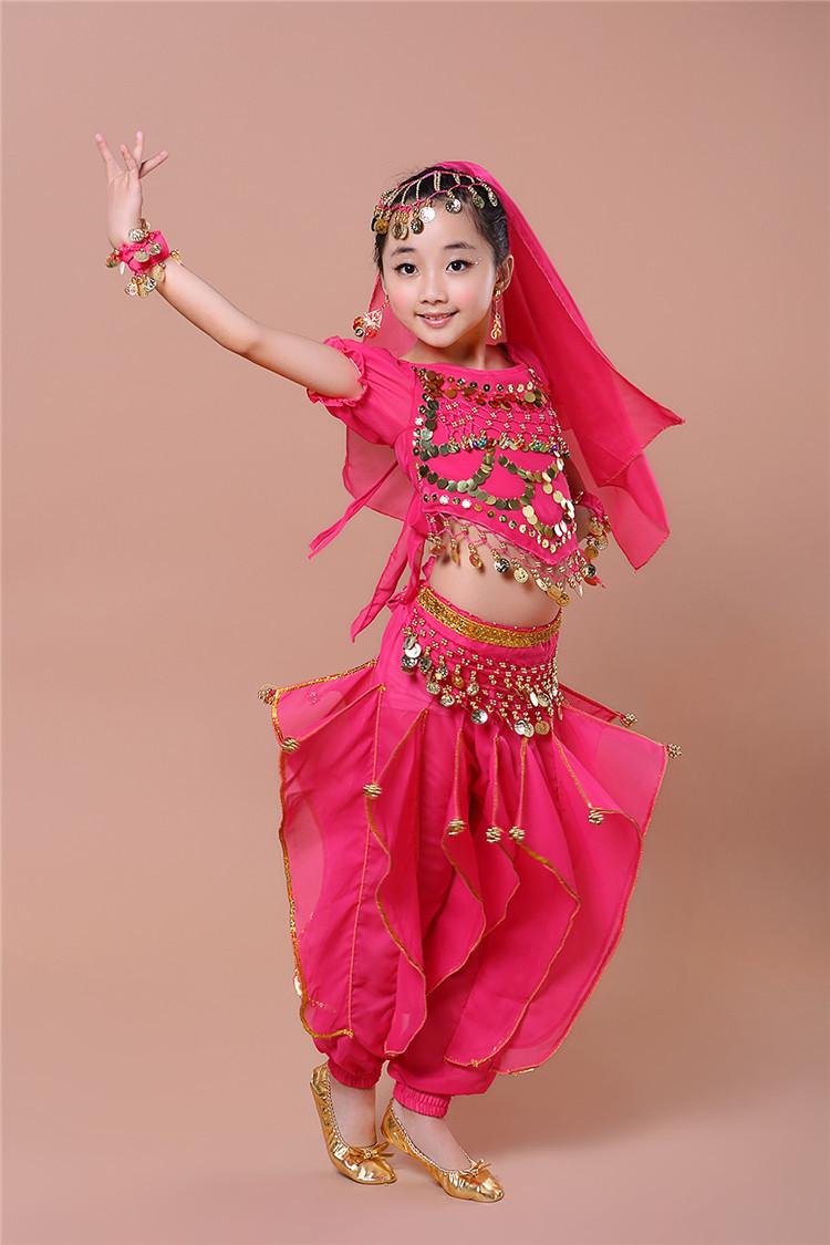 六一儿童肚皮舞新款服装演出服饰表演出服少儿印度舞蹈服装短包邮