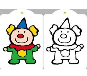 涂色书套装8册宝宝涂色 小红花填色幼儿图画书简笔画涂色