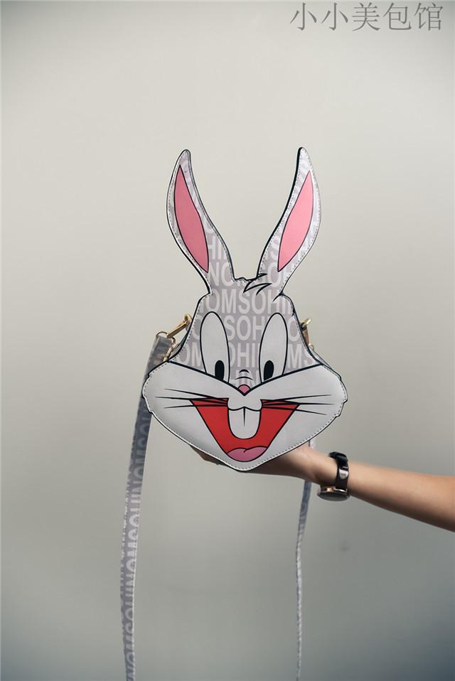 【莫斯奇诺同款卡通可爱呆萌兔子包小斜跨包】-包包