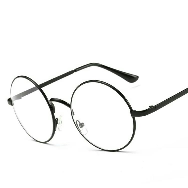 超好看的圆框眼镜复古