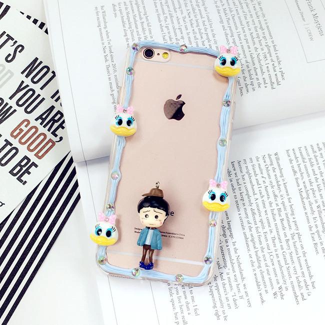 【手工奶油边框苹果6手机壳6s
