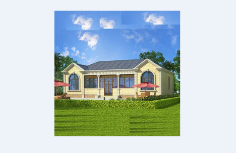 【别墅图纸农村自建房一层平房楼房屋设计施工图效果