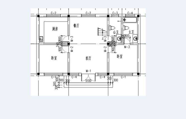 设计图分享 一层平房复式设计图  北京自建农村一层平房小院 宽640×