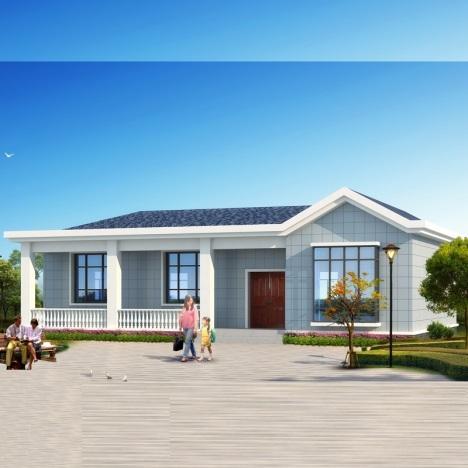 【四室一厅一层房屋别墅设计图纸新农村自建房屋建筑