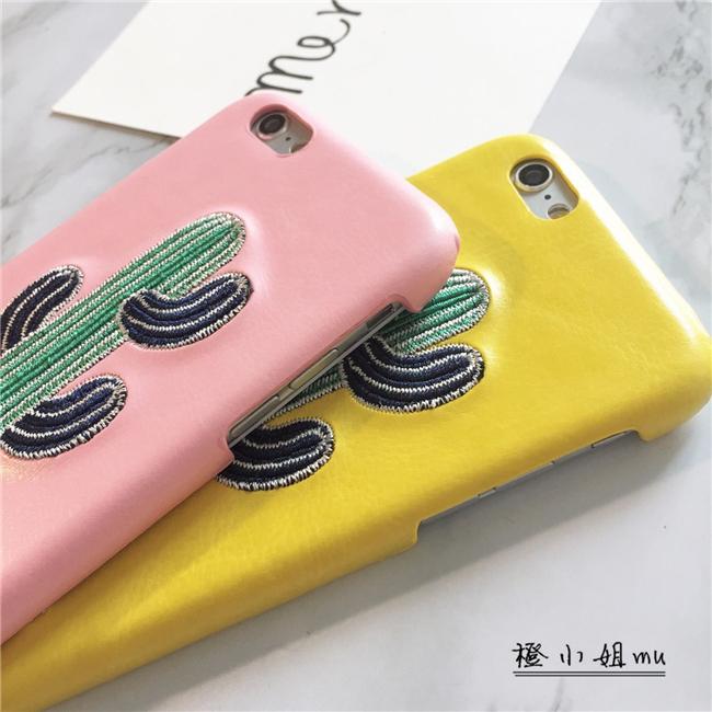 刺绣仙人掌苹果6s plus手机壳